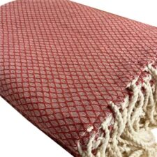plaid terracotta ottoman katoen grand foulard