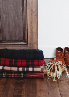 plaids ruiten recycled wol