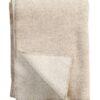 plaid beige natural wol merinowol klippan peak