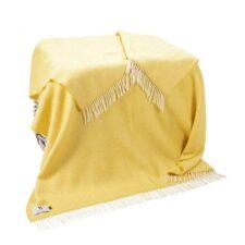 plaid geel cashmere wol visgraat john hanly