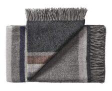 plaid grijs strepen wol silkeborg