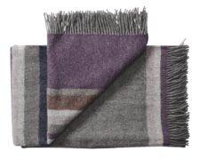 plaid paars grijs strepen wol silkeborg