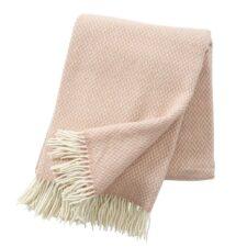 wollen plaid roze nude lamswol merinowol klippan pulse