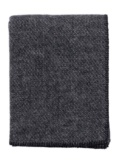plaid zwart wol merinowol klippan peak
