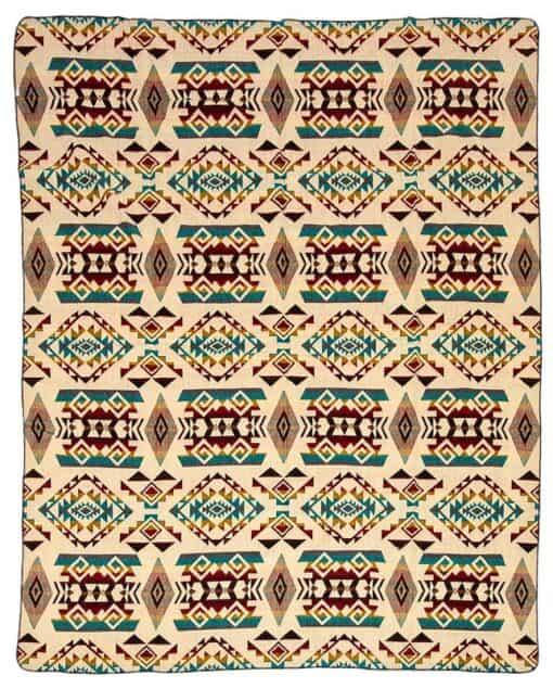 alpacawollen plaid sprei beige multicolor Chimborazo