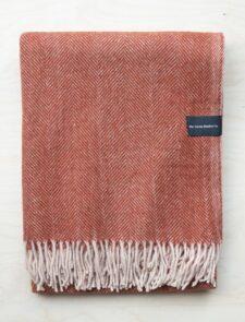 deken steenrood recycled wol