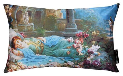 kussen blauw sleeping beauty