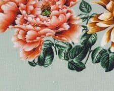 kussen bloemen detail mintgroen