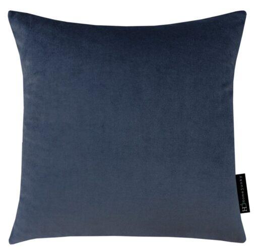 kussen donkerblauw blauw velvet paisley