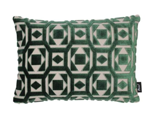 kussen groen velvet raaf langwerpig saloua