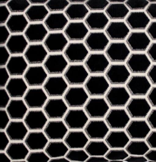 kussen zwart velours raaf detail