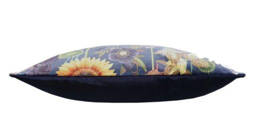 sierkussen donkerblauw bloemen flowers