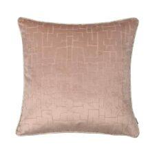 Kussen roze velvet raaf packman vierkant