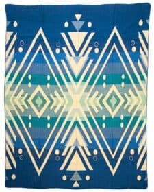 blauwe sprei plaid alpacawol Imbabura