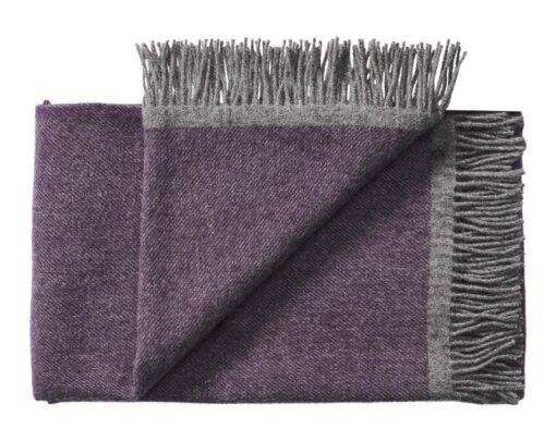 deken paars okergeel plaid silkeborg