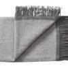 deken plaid grijs okergeel streep silkeborg wol