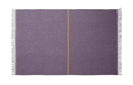 deken plaid paars okergeel streep silkeborg