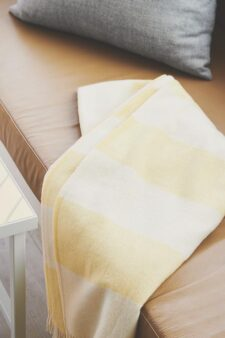 gele plaid merinowol strepen silkeborg