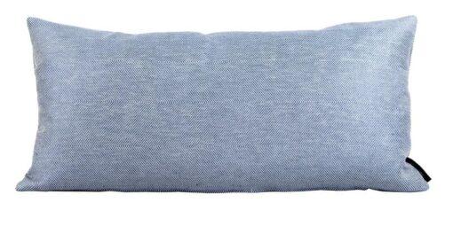 kussen blauw linnen visgraat katoen langwerpig