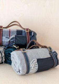 picknickkleed grijs wol