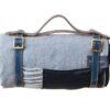 picknickkleed grijs visgraat wol