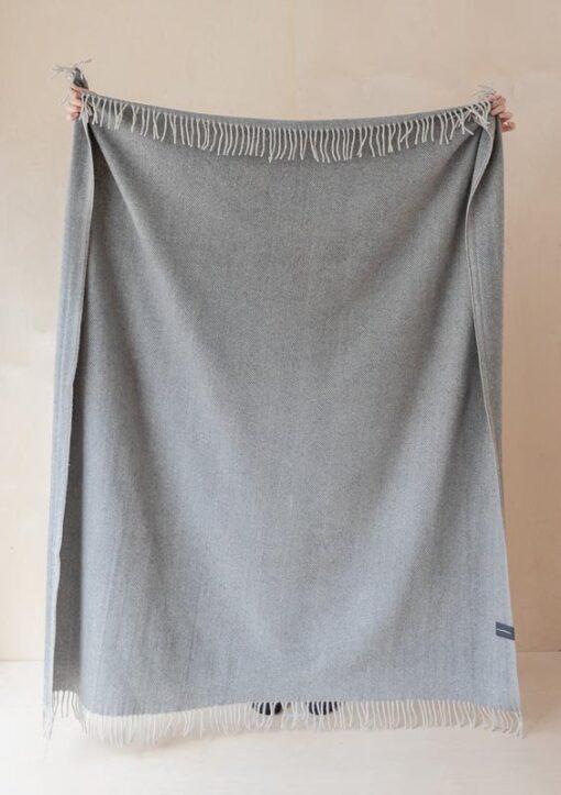 picknickkleed grijs visgraat wol ookinhetpaars