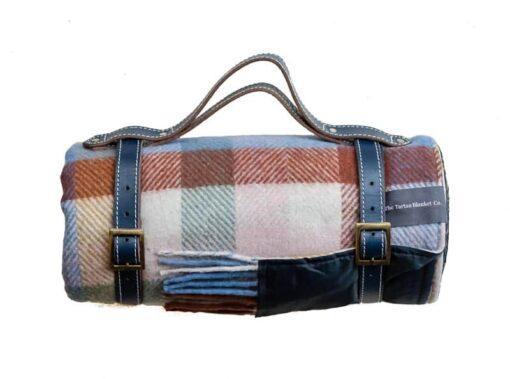 picknickkleed regenboog ruiten wol