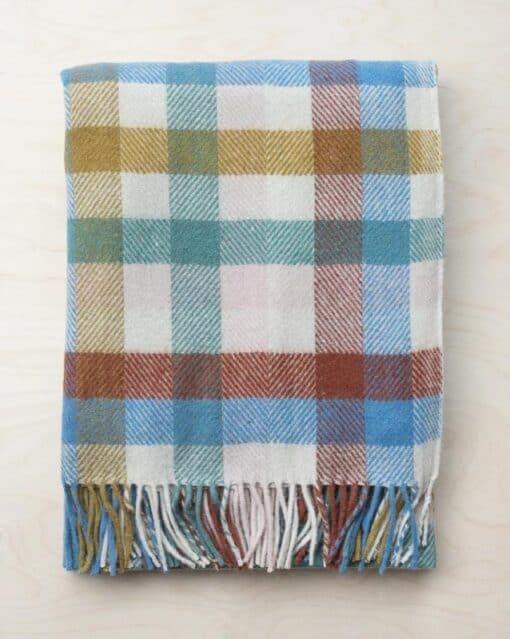 picknickkleed ruiten regenboog wol