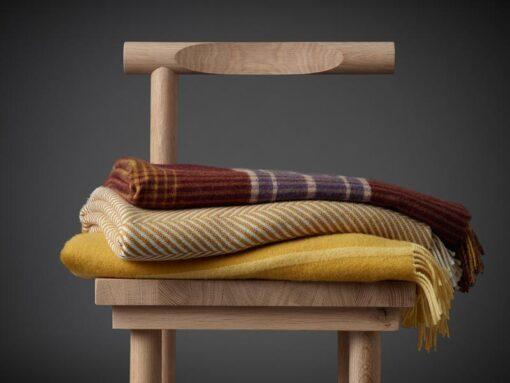 plaid alpacawol bordeaux okergeel silkeborg