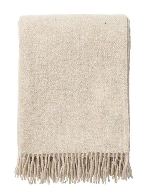 plaid beige wol recycled klippan earth