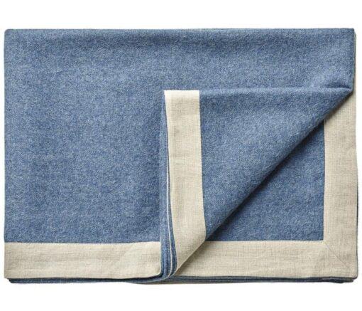 plaid blauw alpacawol linnen silkeborg