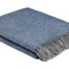 plaid blauw grijs wol cosy periwinkle