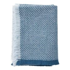 plaid blauw lamswol klippan brick