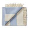plaid blauw lichtblauw strepen silkeborg merinowol
