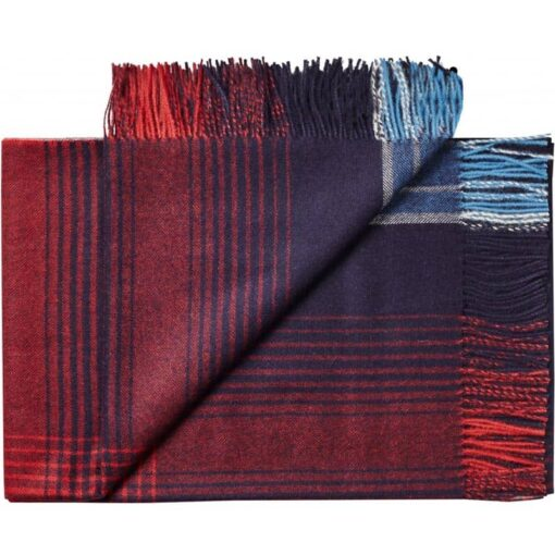 plaid blauw rood ruiten alpacawol silkeborg bogota