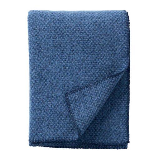 plaid blauw zeeblauw lamswol klippan