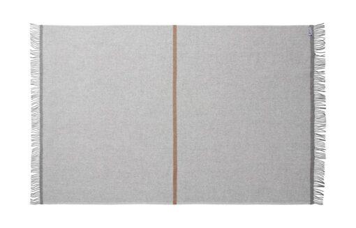 plaid deken wol grijs okergeel silkeborg