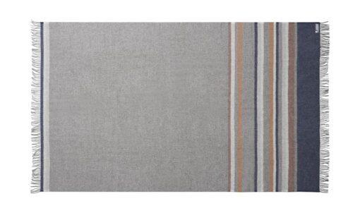 plaid donkerblauw grijs strepen silkeborg wol