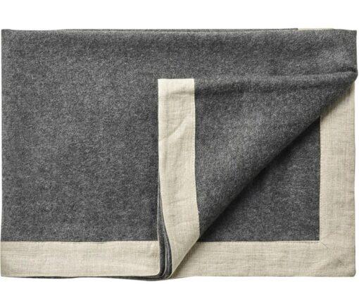 plaid donkergrijs alpacawol linnen silkeborg