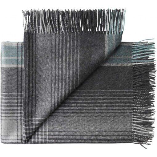 plaid grijs blauw ruiten alpacawol silkeborg bogota