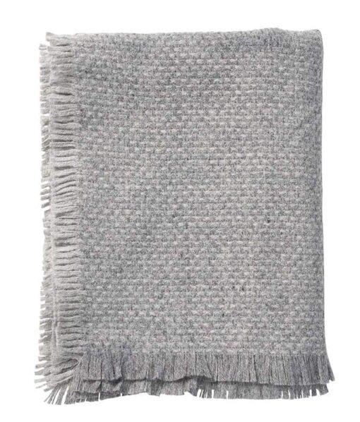 plaid grijs lamswol klippan brick