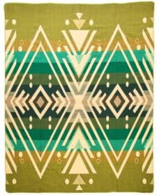 plaid groen alpacawol sprei Imbabura