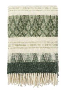 plaid groen grijs freja wol klippan