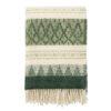 plaid groen wit wol klippan freja