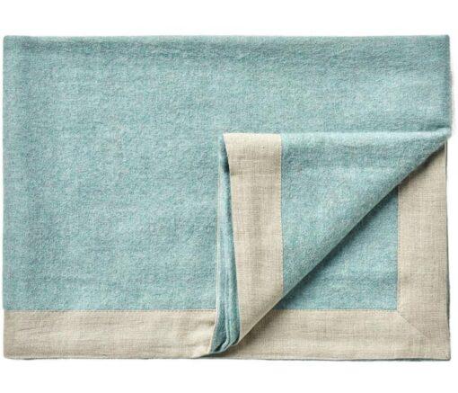 plaid lichtblauw alpacawol linnen silkeborg