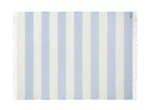 plaid lichtblauw strepen merinowol