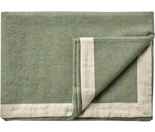 plaid mosgroen alpacawol linnen silkeborg