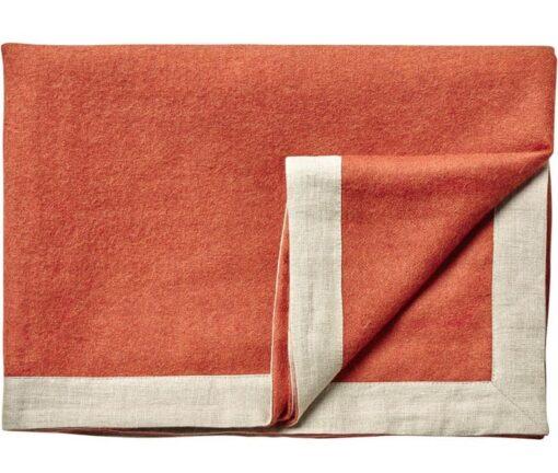 plaid oranje alpacawol linnen silkeborg