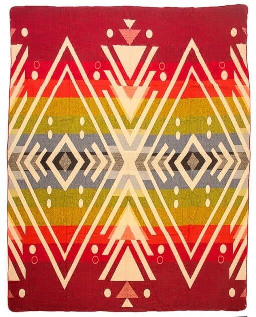plaid rood sprei alpacawol Imbabura rood