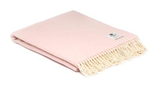 plaid roze merinowol candy floss